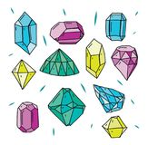 Diamond Icons Set Illustration tirée par la main illustration libre de droits