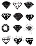 Diamond Icons Set Royalty Free Stock Image