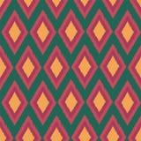 Diamond ikat seamless repeat pattern design. royalty free illustration