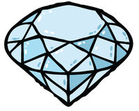 Diamond illustration Stock Image
