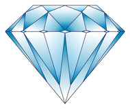 Diamond illustration Royalty Free Stock Images