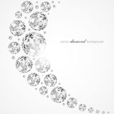 Diamond illustration. Abstract background with diamonds and pearls stock illustration