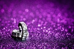 Free Diamond In Purple Water Drops Royalty Free Stock Photo - 111427315
