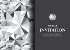 Diamond invitation card luxury background vector. Elegant diamond invitation card luxury background vector Royalty Free Stock Photos