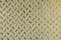 Diamond iron plate. Detail of a diamond iron plate suitable for background Royalty Free Stock Images