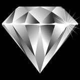 Diamond isolated on black Stock Photos