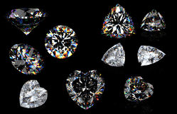 Diamond  isolated on black Royalty Free Stock Photos