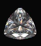 Diamond isolated on black background Royalty Free Stock Photography