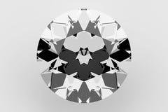Diamond Isolated su bianco, rappresentazione 3D Fotografie Stock Libere da Diritti