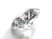 Diamond isolated on white background Royalty Free Stock Photo