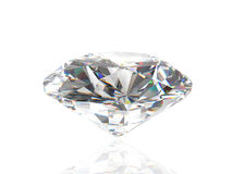 Diamond isolated on white background Royalty Free Stock Photography