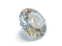 Diamond isolated on white background Stock Images