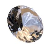Diamond isolated on white Royalty Free Stock Photography