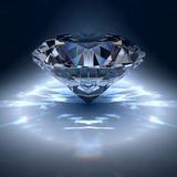 Diamond jewel. On blue background