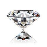 Diamond jewel. Isolated on white background Royalty Free Stock Photography