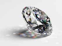 Diamond jewel with caustics Stock Photography