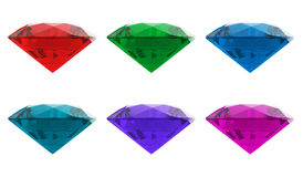 Diamond jewel high resolution 3D image Stock Photos