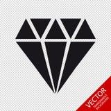 Diamond Jewel Icon - illustration de vecteur - d'isolement sur le fond transparent Photographie stock