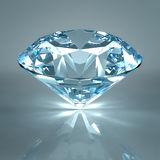 Diamond jewel isolated. Beautiful shape emerald image with reflective surface. Render brilliant jewelry stock image.