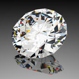 Diamond jewel with reflections Stock Image