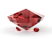 Diamond jewel on white background. 3D Royalty Free Stock Photography