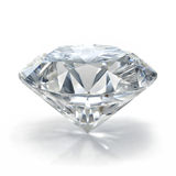 Diamond jewel on white background. Royalty Free Stock Photography