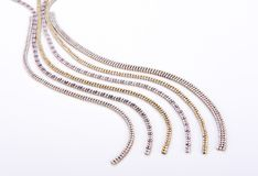 Diamond jewelery  sparkling beads Stock Images
