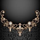 Diamond jewelry necklace background Royalty Free Stock Photos