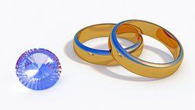Diamond and Jewelry rings Royalty Free Stock Photos