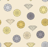 Diamond jewelry seamless pattern Stock Image