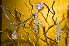 Diamond jewelry set Royalty Free Stock Photo