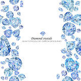 Diamond. jewelry watercolor background. crystals illustration. Watercolor  diamond. jewelry watercolor background. crystals illustration Stock Photo