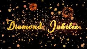 Diamond Jubilee Abstract-de deeltjes en schitteren de kaarttekst van de vuurwerkgroet vector illustratie