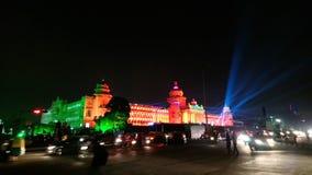 Diamond jubilee celebration of legislative building of karnataka,india. Decoration of state legislature building of karnataka ,vidhana soudha with colourful Stock Photos