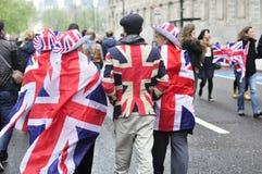 Diamond Jubilee. The Crowd Stock Image