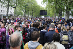 Diamond Jubilee: crowded streets Royalty Free Stock Images