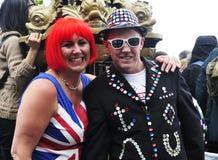 Diamond Jubilee. funny people Royalty Free Stock Photography