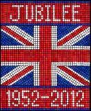 Diamond Jubilee mosaic vector illustration