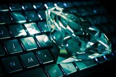 Diamond on the Keyboard Stock Photos