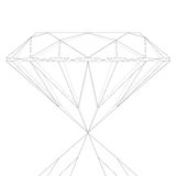 Diamond Keyline. Cool Diamond Keyline Vector Drawing Vector Illustration