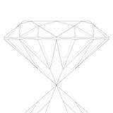 Diamond Keyline. Cool Diamond Keyline Vector Drawing Royalty Free Stock Photography