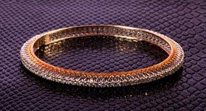 Diamond ladies bracelet royalty free stock image