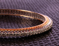 Diamond ladies bracelet royalty free stock photos