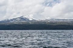 Diamond Lake recreational area in Oregon USA. Diamond Lake recreational area in Oregon United States Royalty Free Stock Photo