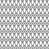 Diamond Lattice Pattern. Seamless pattern of lined diamond shapes in black and white Royalty Free Stock Photo