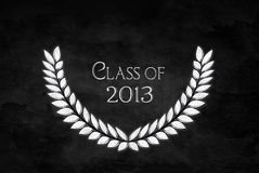 Laurel leaf for graduation 2013 Royalty Free Stock Image