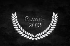 Laurel leaf for graduation 2013. Diamond laurel wreath for Class of 2013 Royalty Free Stock Image