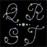Diamond letters Royalty Free Stock Photo