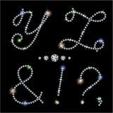 Diamond letters Stock Photo