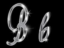 Diamond letters Stock Images